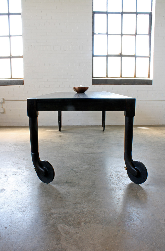 Rolling Dining Table