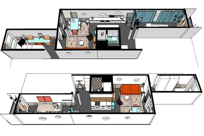container wohnungen die container sind und durch. Black Bedroom Furniture Sets. Home Design Ideas